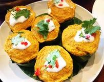Самый лучший курс съеденный с рисом тайской еды Стоковая Фотография