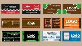 самый лучший оригинал визитной карточки печатает готовый вектор шаблона Стоковое Изображение