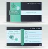 самый лучший оригинал визитной карточки печатает готовый вектор шаблона Стоковое Фото