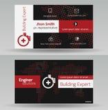самый лучший оригинал визитной карточки печатает готовый вектор шаблона Стоковые Фото