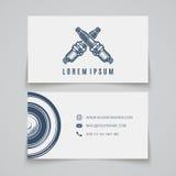 самый лучший оригинал визитной карточки печатает готовый вектор шаблона Логотип свечи зажигания иллюстрация вектора