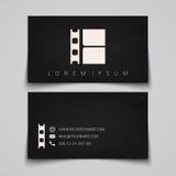 самый лучший оригинал визитной карточки печатает готовый вектор шаблона Логотип концепции прокладки фильма бесплатная иллюстрация