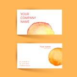 самый лучший оригинал визитной карточки печатает готовый вектор шаблона Апельсин акварели вектора Стоковая Фотография RF