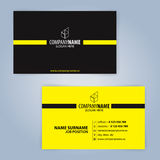 самый лучший оригинал визитной карточки печатает готовый вектор шаблона Желтый цвет и чернота Стоковые Фотографии RF
