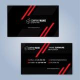 самый лучший оригинал визитной карточки печатает готовый вектор шаблона почерните красный цвет Стоковое Изображение RF