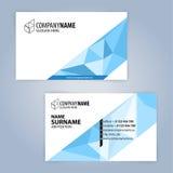 самый лучший оригинал визитной карточки печатает готовый вектор шаблона голубая белизна Стоковые Изображения