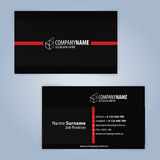 самый лучший оригинал визитной карточки печатает готовый вектор шаблона почерните красный цвет Стоковое Изображение