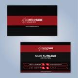 самый лучший оригинал визитной карточки печатает готовый вектор шаблона почерните красный цвет Стоковое фото RF