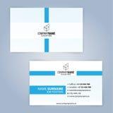 самый лучший оригинал визитной карточки печатает готовый вектор шаблона голубая белизна Стоковое Фото