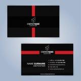 самый лучший оригинал визитной карточки печатает готовый вектор шаблона почерните красный цвет Стоковая Фотография