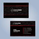 самый лучший оригинал визитной карточки печатает готовый вектор шаблона почерните красный цвет Стоковые Изображения