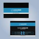 самый лучший оригинал визитной карточки печатает готовый вектор шаблона черная синь Стоковые Изображения