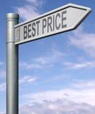 Самый лучший дорожный знак цены Стоковые Изображения RF