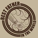 Самый лучший отец в мире Стоковые Фотографии RF