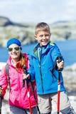 Самый лучший поход Норвегии Стоковые Фото