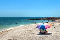 Самый лучший пляж Key West, Флорида. Стоковые Фотографии RF