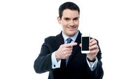 Самый лучший умный телефон теперь в рынке стоковое фото rf