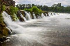 Самый широкий водопад в Европе Стоковые Фотографии RF