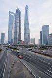 3 самых высокорослых здания в Шанхае Стоковые Фотографии RF