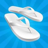 сандалии белые Стоковое Изображение