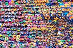 Сандалии для продажи в улице в Оахака Стоковое Изображение RF