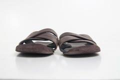 сандалии младенца кожаные Стоковые Изображения RF