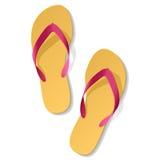 сандалии пляжа иллюстрация штока