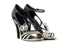 сандалии повелительниц черного золота Стоковое Фото