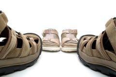 сандалии человека младенца Стоковые Изображения