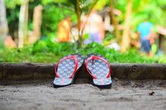 сандалии flops flip пляжа предпосылки изолированные иллюстрацией установили вектор белым Стоковая Фотография