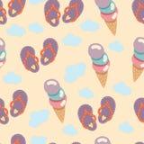 сандалии flops flip пляжа предпосылки изолированные иллюстрацией установили вектор белым Стоковое Изображение RF