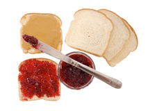 сандвичи арахиса студня масла Стоковые Фотографии RF