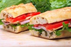 сандвичи багета Стоковая Фотография RF