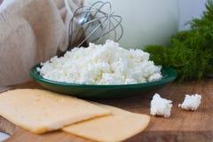 сандвичи молока укропа сыра Стоковые Изображения RF