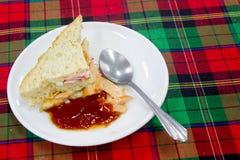 Сандвичи овощей служат с зажаренной едой картошки хорошей и излечивают Стоковые Изображения RF