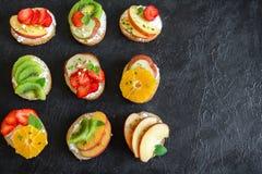 Сандвичи плодоовощ десерта Стоковые Изображения RF