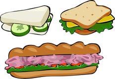 сандвичи иллюстрация штока