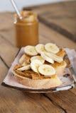 сандвич арахиса масла банана стоковые фотографии rf