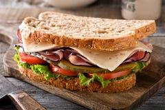Сандвич ветчины и сыра Стоковое Изображение RF