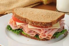 Сандвич ветчины и швейцарца стоковое фото