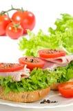 сандвич ветчины открытый Стоковые Фото