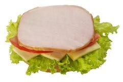 сандвич ветчины открытый Стоковое Фото