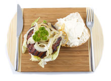 сандвич гамбургера Стоковые Изображения