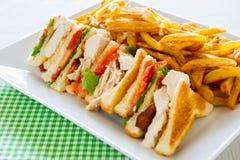сандвич еды клуба Стоковые Изображения