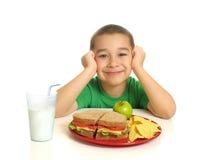 сандвич еды малыша Стоковые Фотографии RF