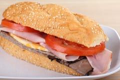 сандвич жаркого ветчины говядины Стоковые Фото