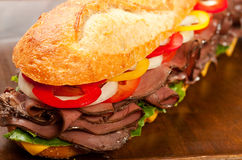 сандвич жаркого говядины Стоковое Изображение RF