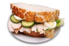 сандвич жаркого цыпленка Стоковая Фотография