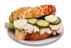 сандвич жаркого цыпленка Стоковые Изображения RF