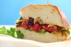 сандвич зажаренный в духовке перцем Стоковая Фотография